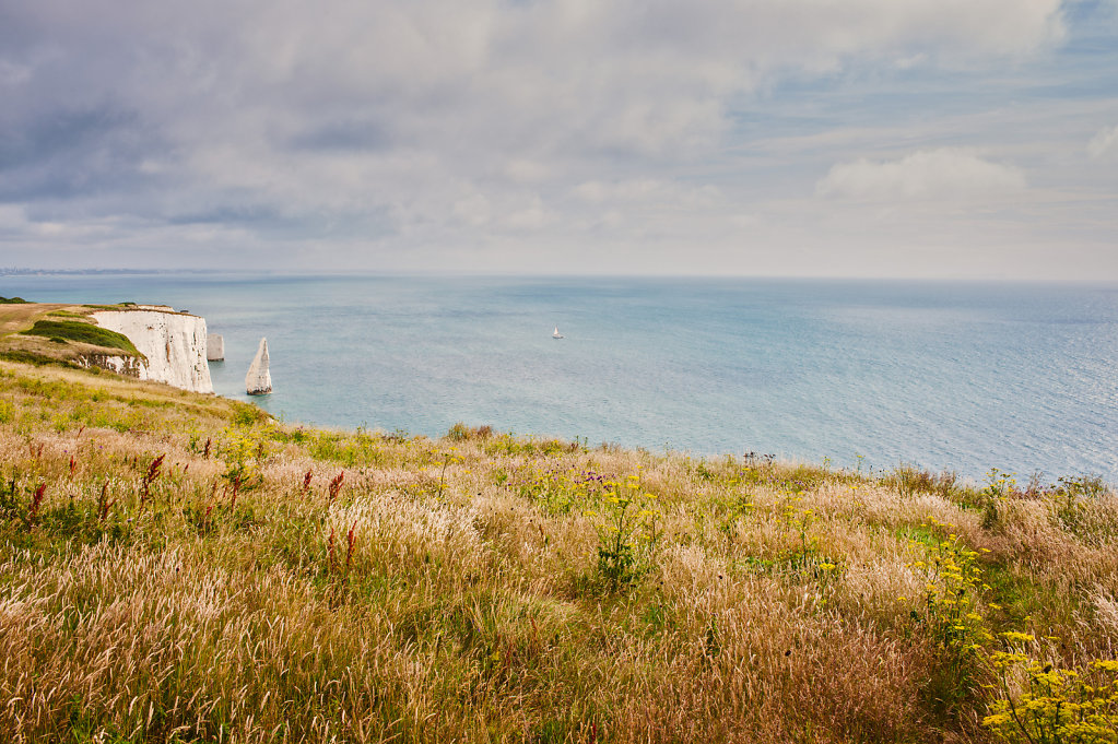 The Pinnacles (and yacht), Isle of Purbeck, Dorset
