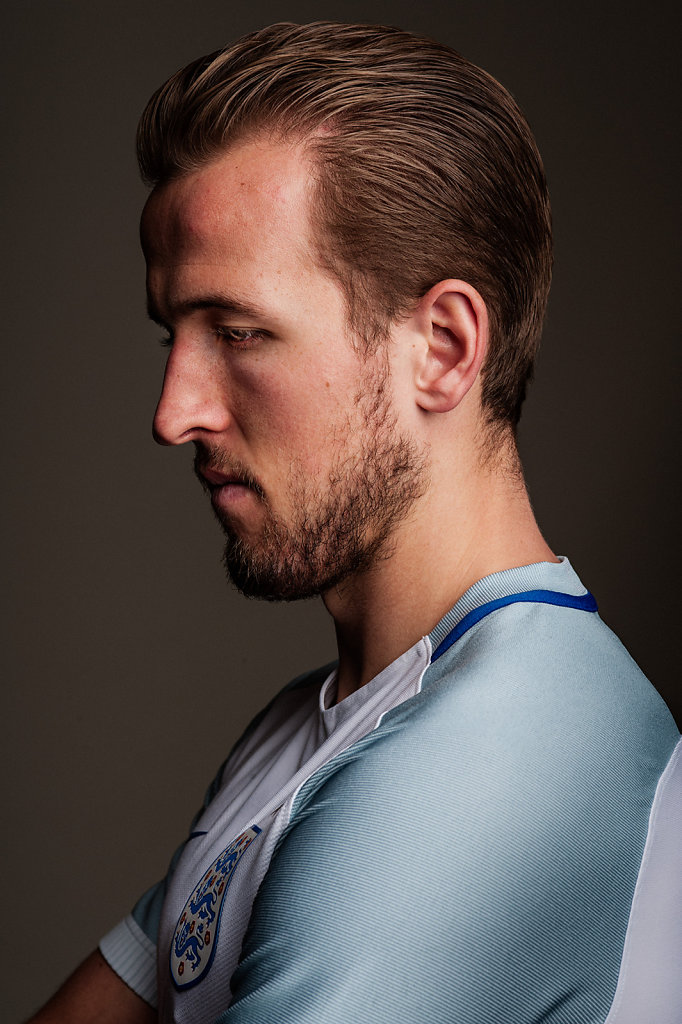 Harry Kane photographed for the 2016 European Championships issue of Sport Magazine